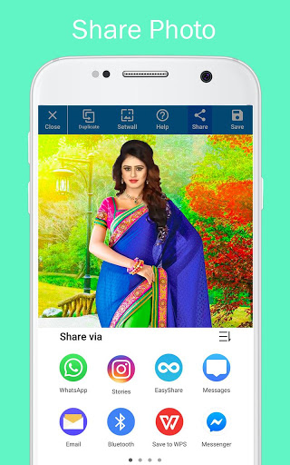 Woman Fancy Saree Photo Suit Editor 13 تصوير الشاشة