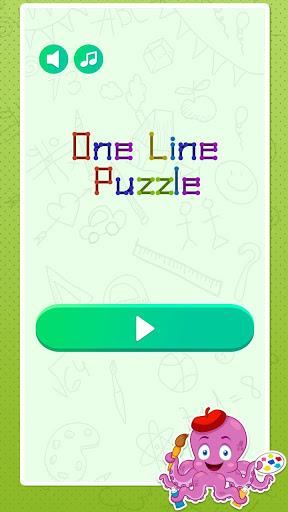 One Stroke Drawing Puzzle 2 تصوير الشاشة