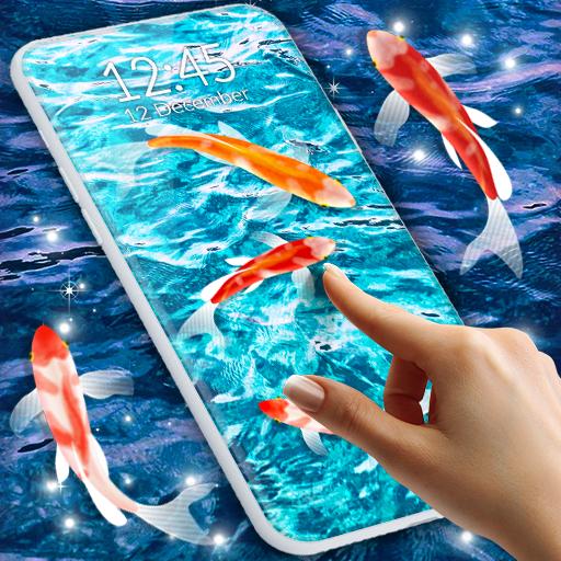 HD Koi Live Pond 3D 🐟 Fish 4K Live Wallpaper Free أيقونة