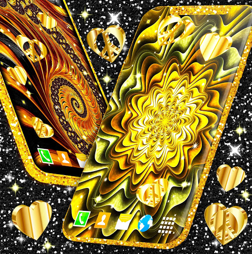 Gold Hearts 4K Wallpaper 💛 Golden live Wallpaper 4 تصوير الشاشة