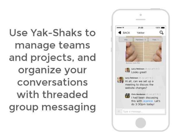 Yakker – Team Collaboration 8 تصوير الشاشة