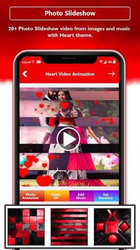 Heart Photo Effect Video Maker With Music screenshot 3