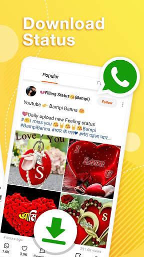 Helo Lite - Download Share WhatsApp Status Videos screenshot 2