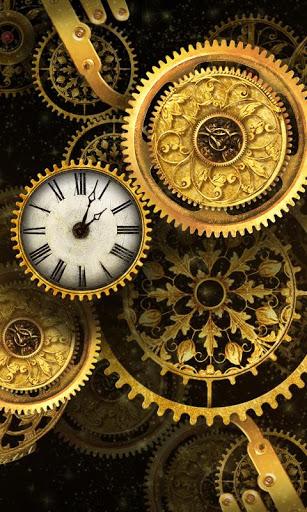 FREE Gold Clock Live Wallpaper 2 تصوير الشاشة