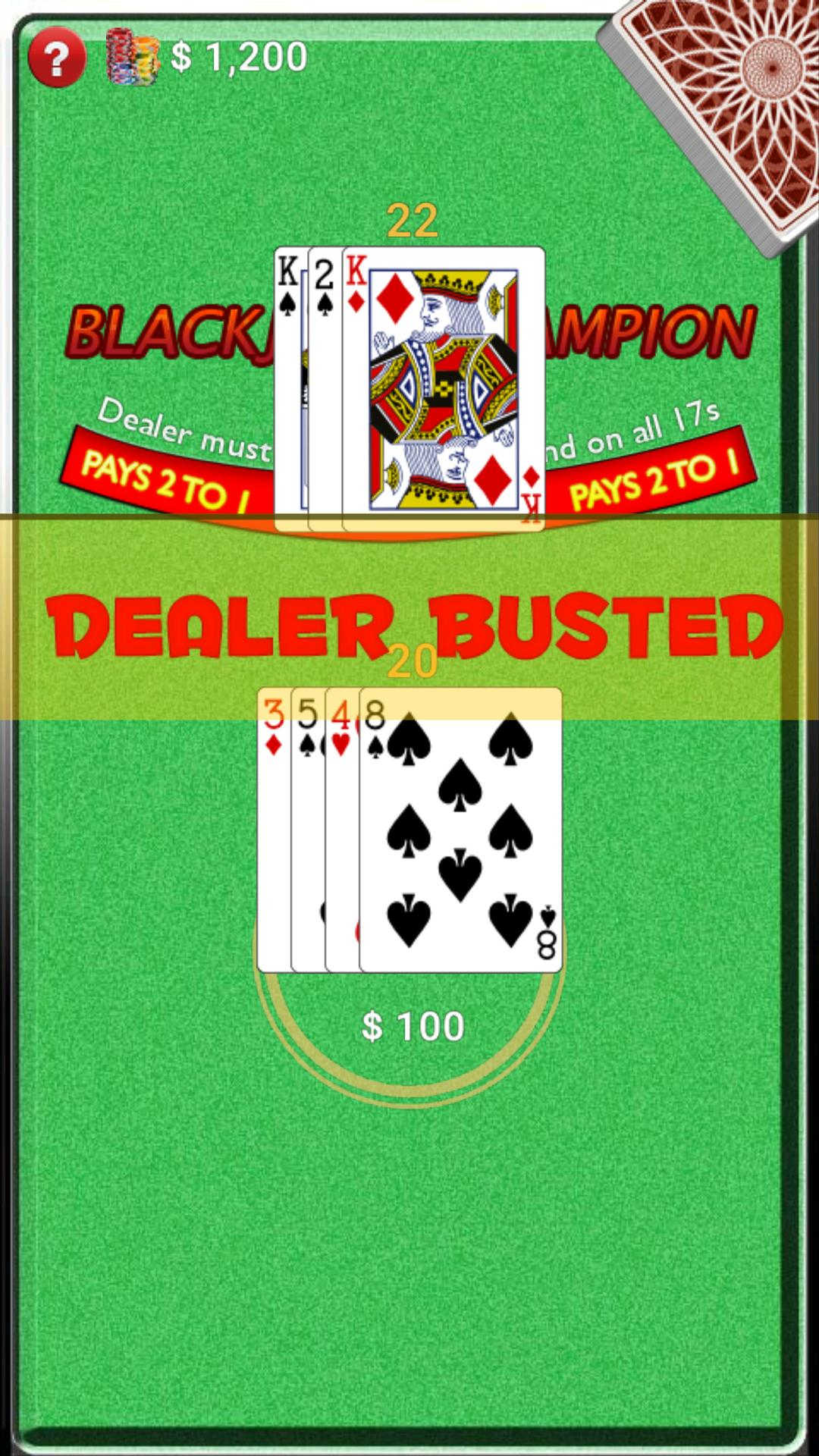 BlackJack Champion screenshot 2