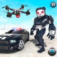 Police Panda Robot Car Transform: Flying Car Games on 9Apps