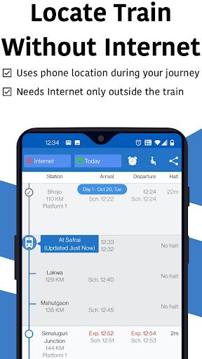 Live Train & Indian Rail Status - Locate My Train स्क्रीनशॉट 1