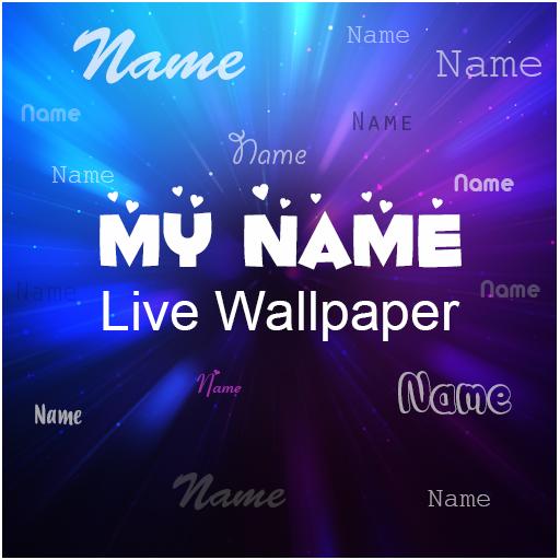 My name live wallpaper أيقونة