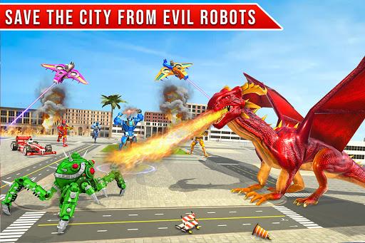 Formula Car Robot Transform - Flying Dragon Robot screenshot 1