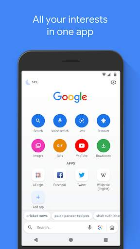 Google Go: A lighter, faster way to search screenshot 1