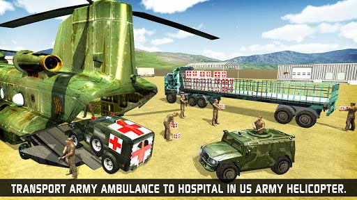 US Army Ambulance Driving Game : Transport Games 13 تصوير الشاشة