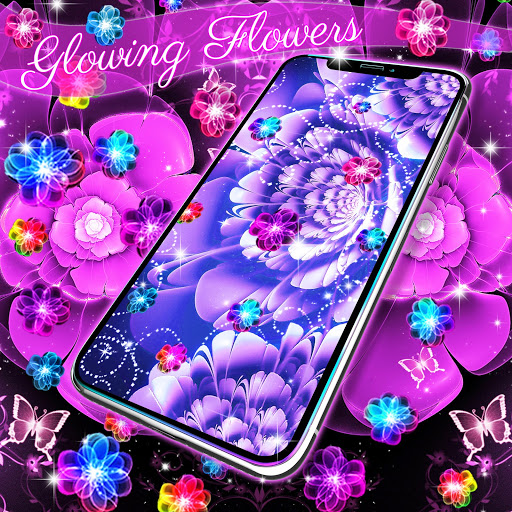Glowing flowers live wallpaper screenshot 1