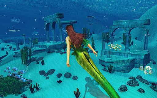 Underwater Mermaid Simulator screenshot 2