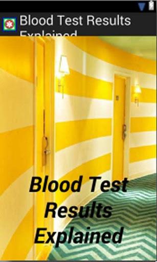 Blood Test Results 1 تصوير الشاشة