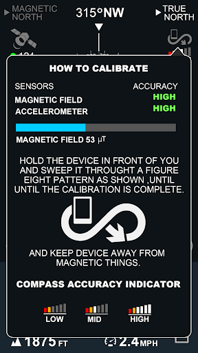 Digital Compas, Gps Status, Sensor information screenshot 8