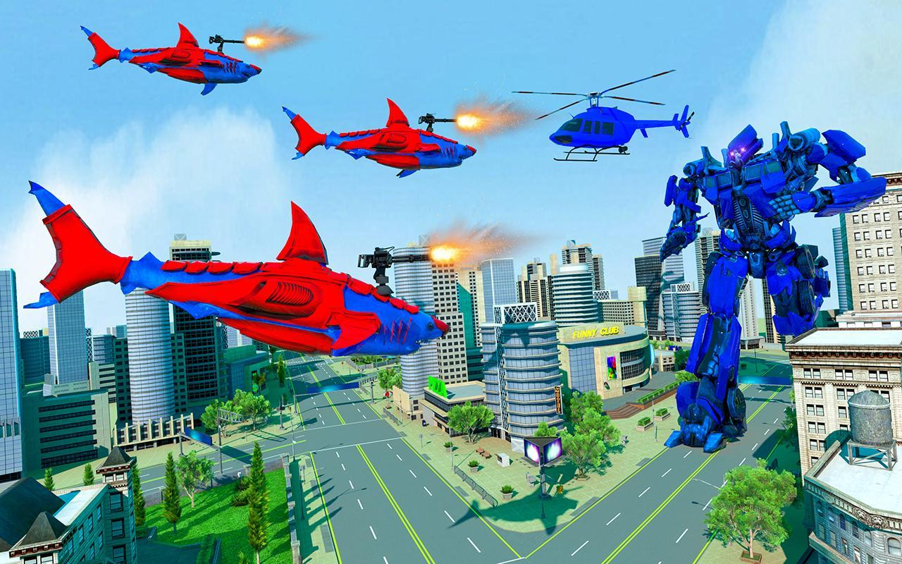 Grand Shark Robot Car Transformation War 2 تصوير الشاشة