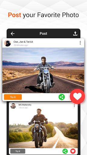Man Bike Rider Photo Editor - photo frame screenshot 9