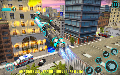 Flying Panther Robot Hero Fighting Game 1 تصوير الشاشة