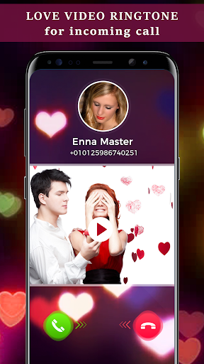 Love Video Ringtone for Incoming Call 3 تصوير الشاشة
