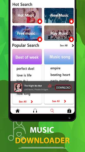 MP3 song downloader - Download free music स्क्रीनशॉट 2