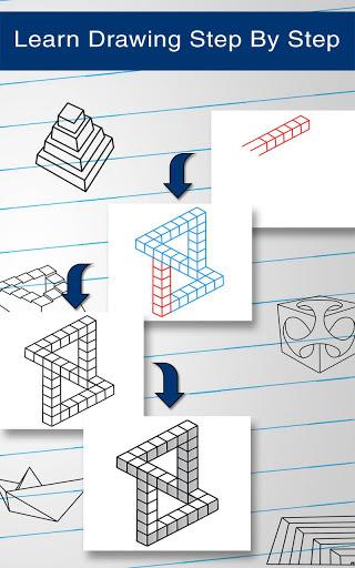 How to Draw 3D 16 تصوير الشاشة