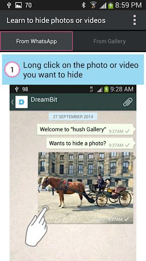 Hush Gallery  ★ إخفاء الصور ★ 5 تصوير الشاشة