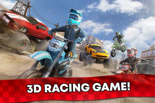 Free Motor Bike Racing - Fast Offroad Driving Game screenshot 5