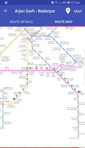 Delhi Metro Route Map and Fare 2 تصوير الشاشة