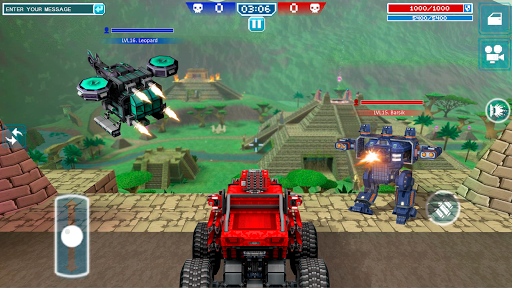 Blocky Cars - shooter & cars 2 تصوير الشاشة