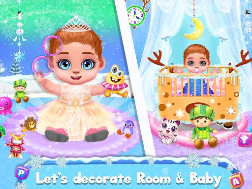 Ice Princess Pregnant Mom and Baby Care Games screenshot 4