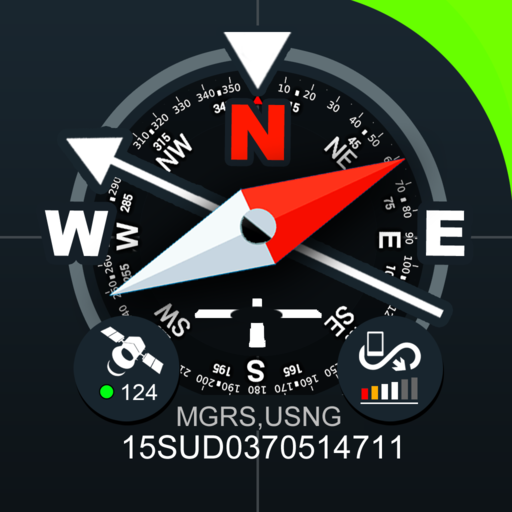 Digital Compas, Gps Status, Sensor information icon