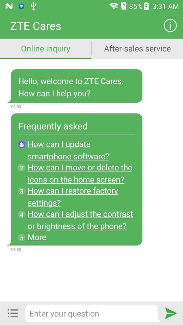 ZTE Cares screenshot 1
