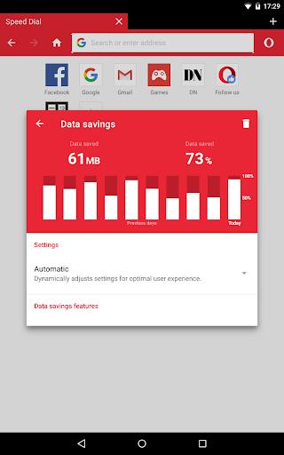 الإصدار التجريبي من Opera Mini 9 تصوير الشاشة