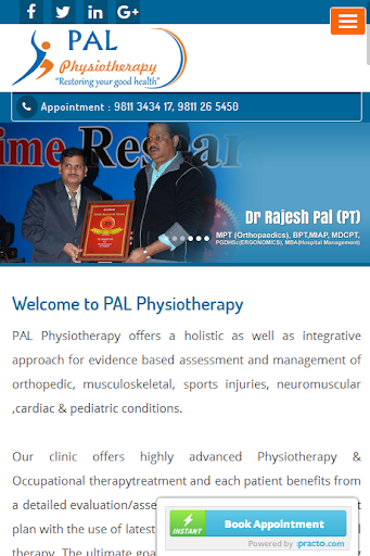 PAL Physiotherapy screenshot 1