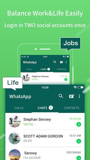 2Face: 2 Accounts for 2 whatsapp, dual apps screenshot 2