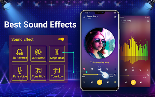 Music player - 10 bands equalizer Audio player screenshot 11