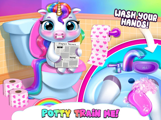 My Baby Unicorn - Virtual Pony Pet Care & Dress Up 12 تصوير الشاشة