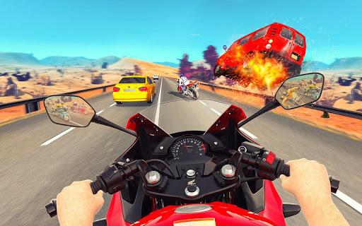 Bike Attack Race : Highway Tricky Stunt Rider screenshot 2