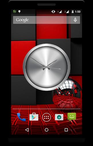 Metal Clock Live Wallpaper 7 تصوير الشاشة