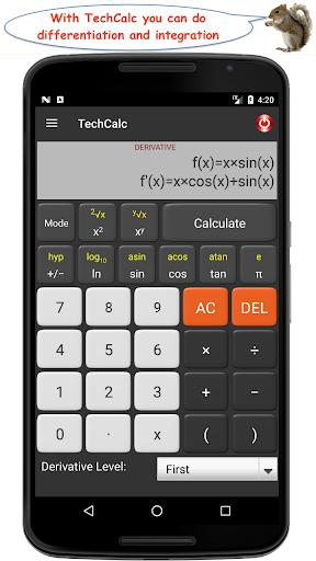 TechCalc Scientific Calculator 7 تصوير الشاشة
