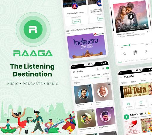 Raaga Hindi Tamil Telugu songs videos and podcasts screenshot 1