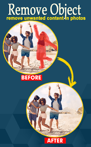 PixelRetouch - Remove unwanted content in photos screenshot 1