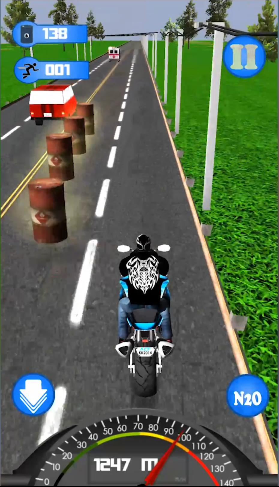 Highway Dash 3D - Speed Street Bike Moto Racing 4 تصوير الشاشة
