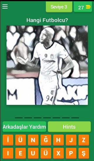 Karakartal Futbolcu Tahmin Oyunu screenshot 3
