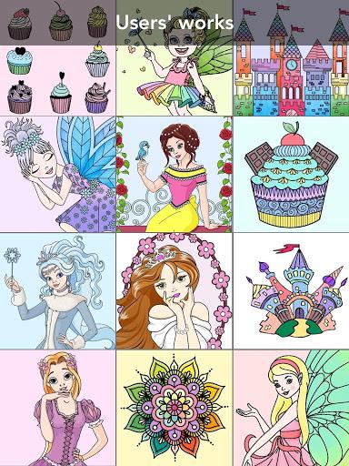 Princess coloring book screenshot 12