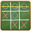 Tic Tac Toe on blackboard أيقونة