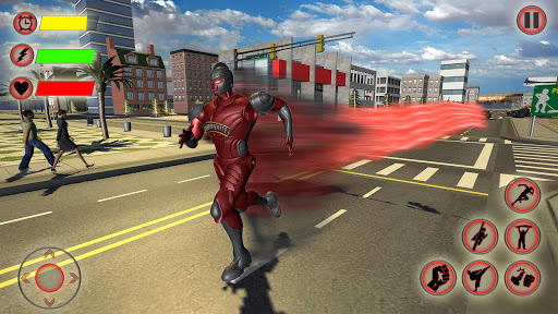 Super Speed Light Hero Games City Rescue Mission 2 تصوير الشاشة