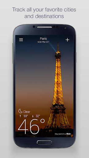 Yahoo Weather 5 تصوير الشاشة