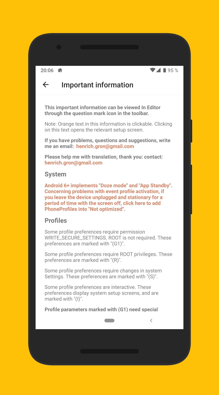 Phone Profiles 5 تصوير الشاشة