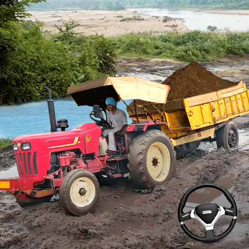 Real Tractor Trolley Cargo Farming Simulation Game icon